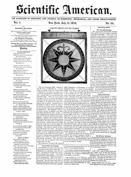 Scientific American - July 14, 1849 (vol. 4, #43)