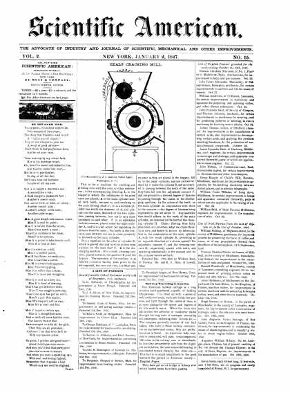 Scientific American - January 2, 1847 (vol. 2, #15)