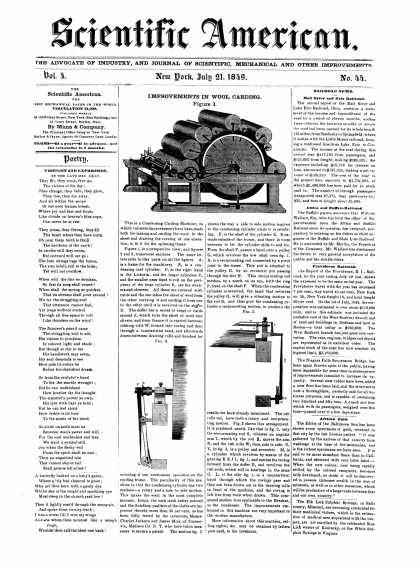 Scientific American - July 21, 1849 (vol. 4, #44)