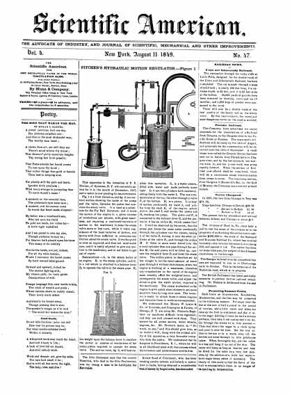 Scientific American - August 11, 1849 (vol. 4, #47)
