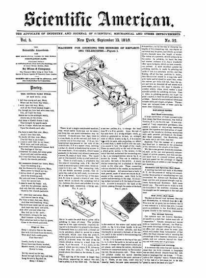 Scientific American - September 15, 1849 (vol. 4, #52)