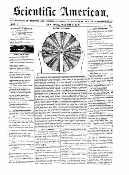 Scientific American - January 9, 1847 (vol. 2, #16)