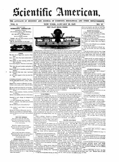 Scientific American - January 16, 1847 (vol. 2, #17)