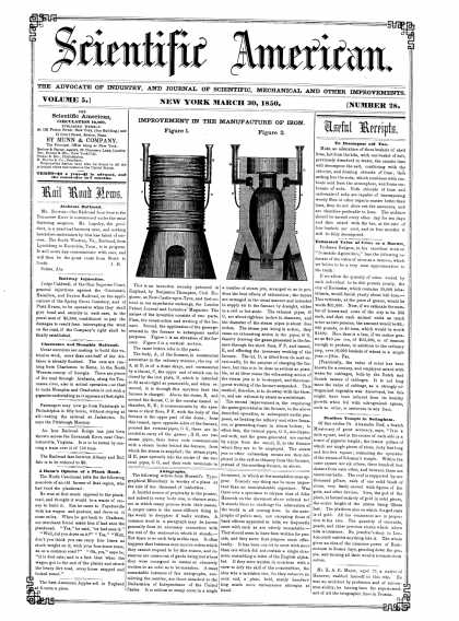 Scientific American - March 31, 1850 (vol. 5, #28)