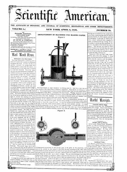Scientific American - April 6, 1850 (vol. 5, #29)