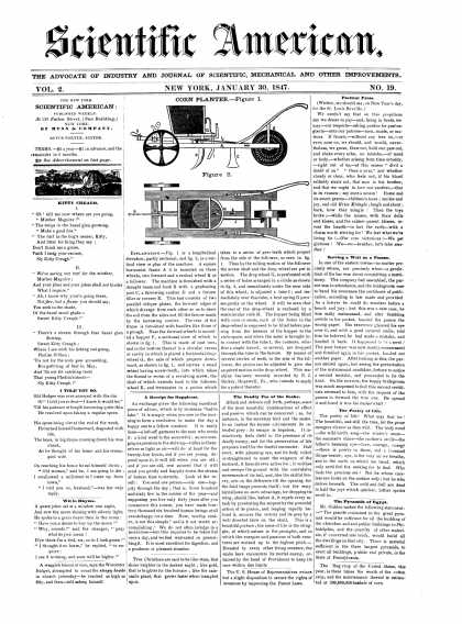 Scientific American - January 30, 1847 (vol. 2, #19)