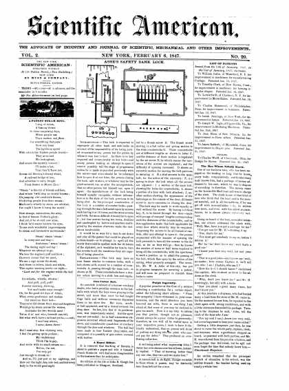 Scientific American - February 6, 1847 (vol. 2, #20)