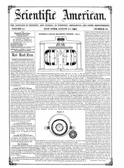 Scientific American - August 17, 1850 (vol. 5, #48)