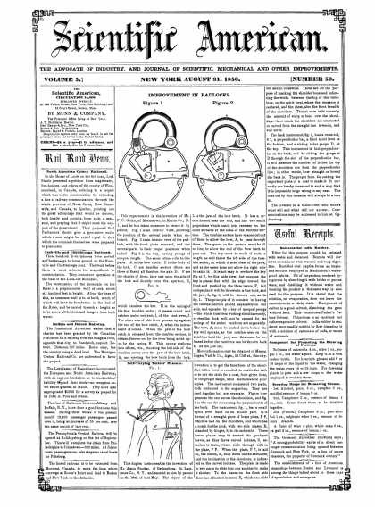 Scientific American - August 31, 1850 (vol. 5, #50)