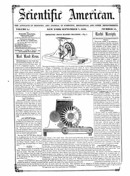 Scientific American - September 7, 1850 (vol. 5, #51)