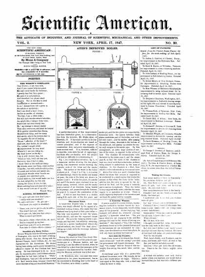 Scientific American - April 17, 1847 (vol. 2, #30)