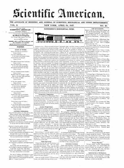 Scientific American - April 24, 1847 (vol. 2, #31)