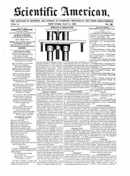 Scientific American - May 8, 1847 (vol. 2, #33)