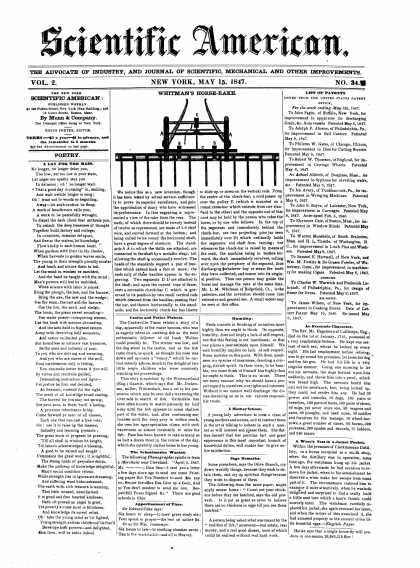 Scientific American - May 15, 1847 (vol. 2, #34)