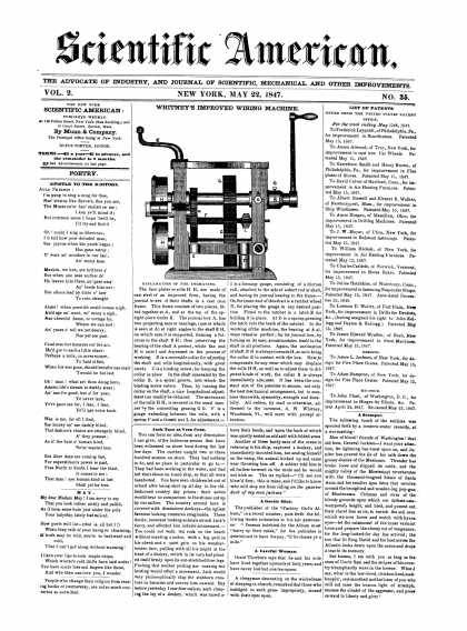 Scientific American - May 22, 1847 (vol. 2, #35)