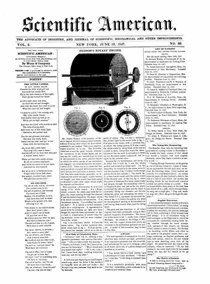 Scientific American - June 19, 1847 (vol. 2, #39)