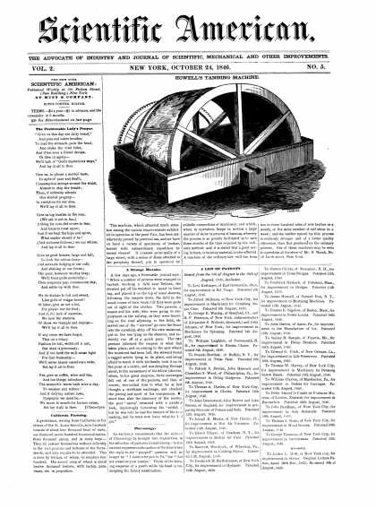 Scientific American - October 24, 1846 (vol. 2, #5)