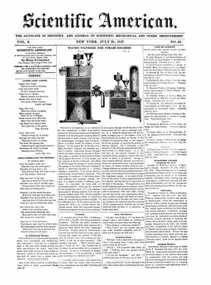 Scientific American - July 31, 1847 (vol. 2, #45)