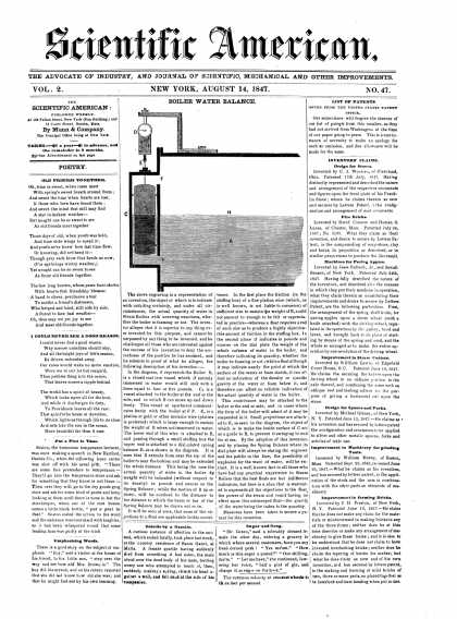 Scientific American - August 14, 1847 (vol. 2, #47)