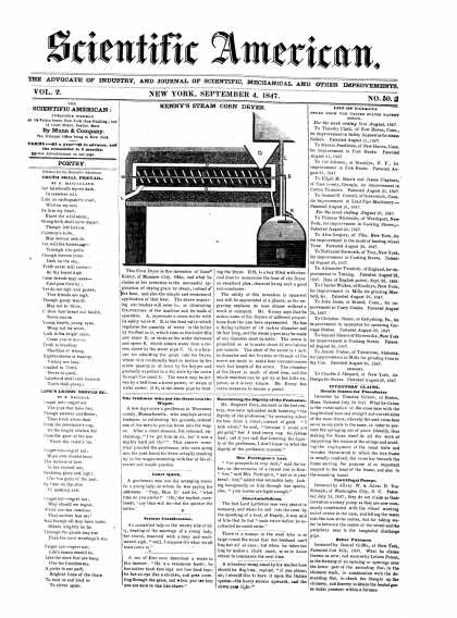 Scientific American - September 4, 1847 (vol. 2, #50)