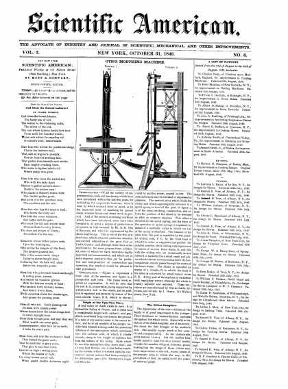 Scientific American - October 31, 1846 (vol. 2, #6)