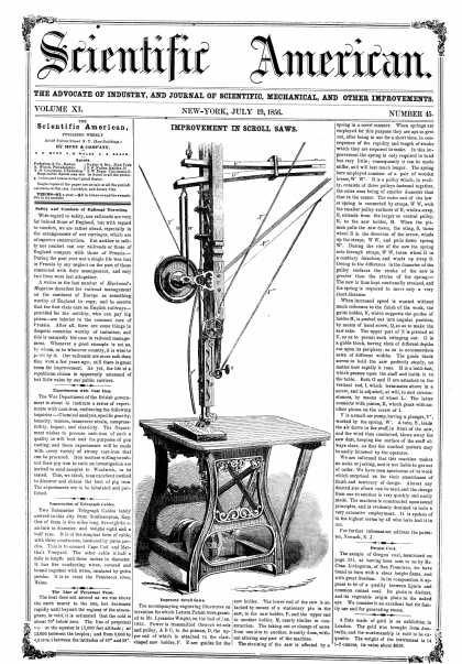 Scientific American - July 19, 1856 (vol. 11, #45)
