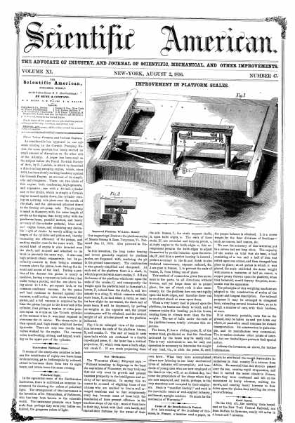 Scientific American - Aug 2, 1856 (vol. 11, #47)