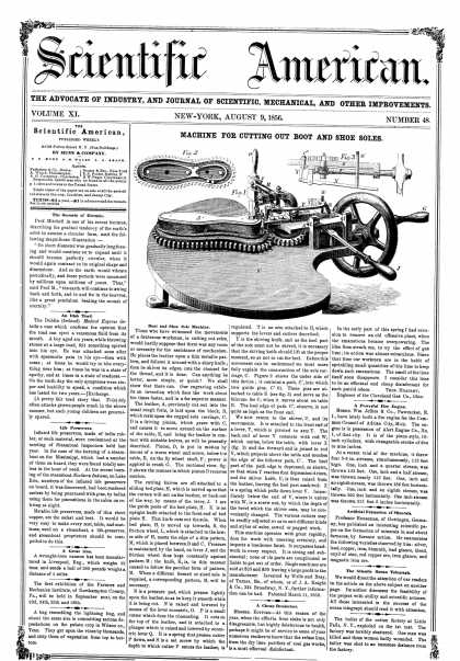 Scientific American - Aug 9, 1856 (vol. 11, #48)
