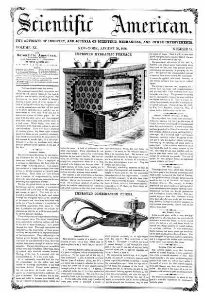 Scientific American - Aug 30, 1856 (vol. 11, #51)