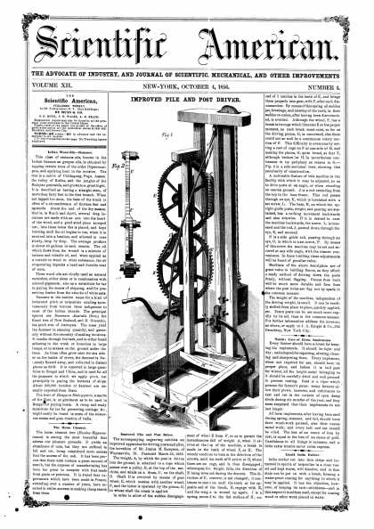 Scientific American - Oct 4, 1856 (vol. 12, #4)