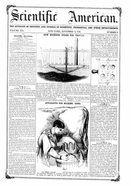 Scientific American - Nov 8, 1856 (vol. 12, #9)