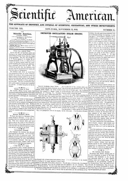 Scientific American - Nov 23, 1856 (vol. 12, #11)