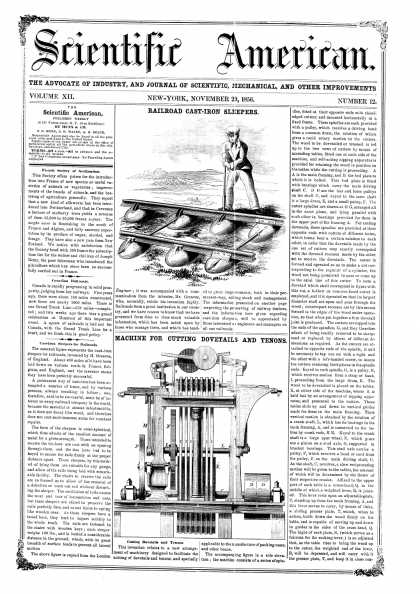 Scientific American - Nov 29, 1856 (vol. 12, #12)