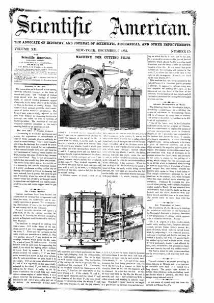 Scientific American - Dec 6, 1856 (vol. 12, #13)