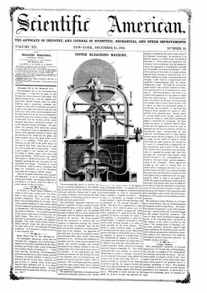 Scientific American - Dec 27, 1856 (vol. 12, #16)
