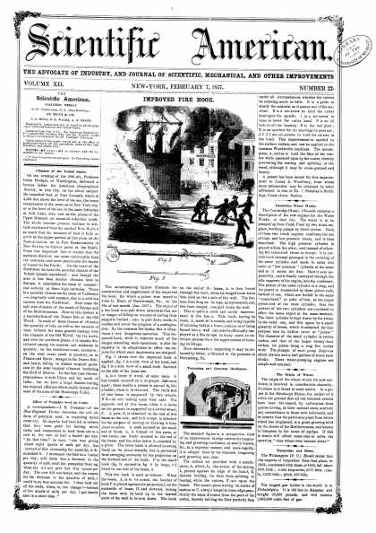Scientific American - Feb 7, 1857 (vol. 12, #22)