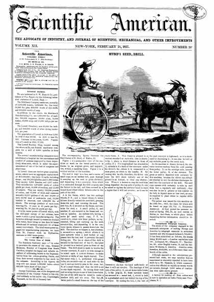 Scientific American - Feb 21, 1857 (vol. 12, #24)