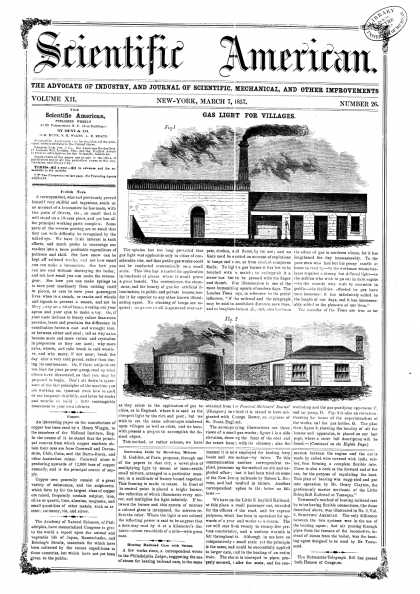 Scientific American - May 7, 1857 (vol. 12, #26)