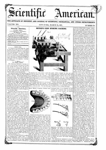 Scientific American - Mar 21, 1857 (vol. 12, #28)