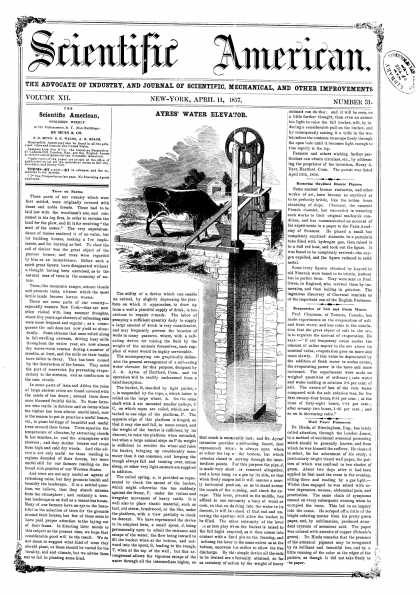 Scientific American - Apr 11, 1857 (vol. 12, #31)
