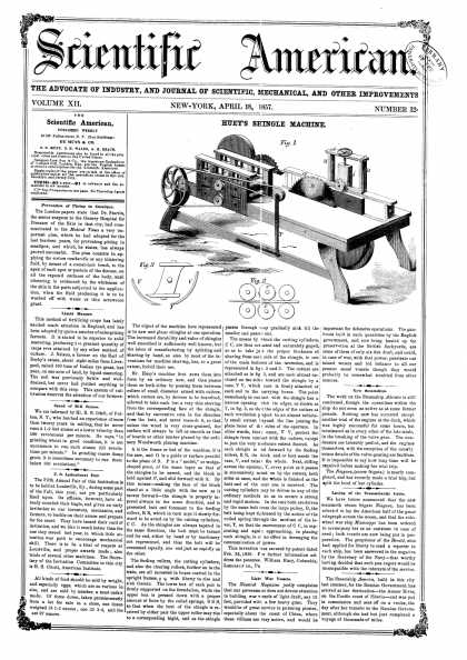 Scientific American - Apr 18, 1857 (vol. 12, #32)