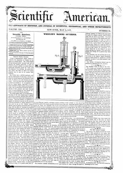 Scientific American - May 2, 1857 (vol. 12, #34)