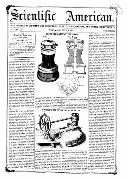 Scientific American - May 9, 1857 (vol. 12, #35)