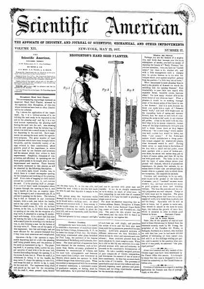 Scientific American - May 23, 1857 (vol. 12, #37)
