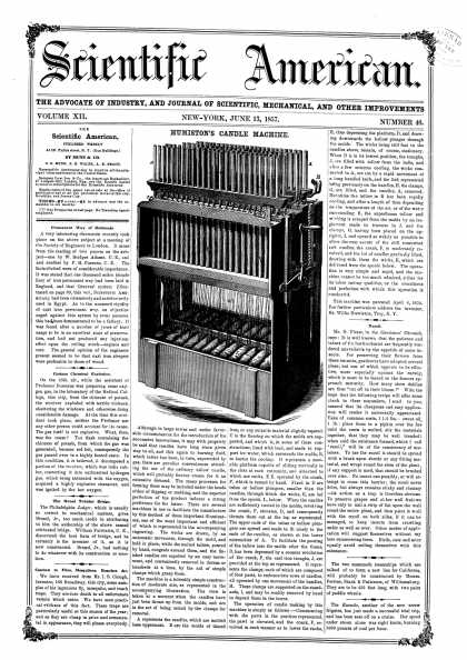 Scientific American - June 13, 1857 (vol. 12, #40)