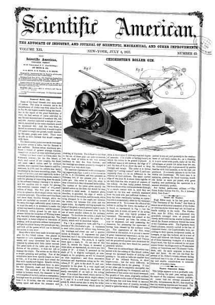 Scientific American - July 4, 1857 (vol. 12, #43)