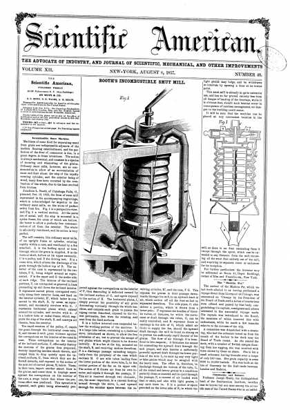 Scientific American - Aug 8, 1857 (vol. 12, #48)