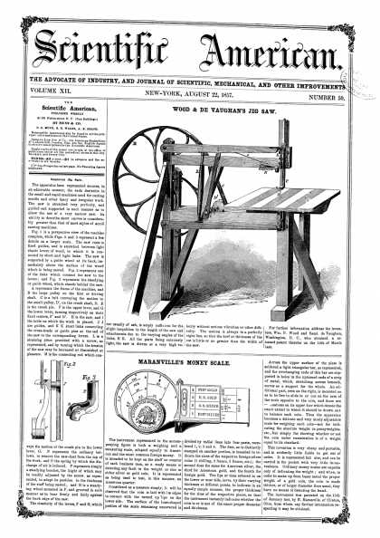 Scientific American - Aug 22, 1857 (vol. 12, #50)