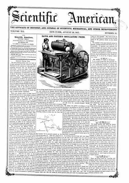 Scientific American - Aug 29, 1857 (vol. 12, #51)