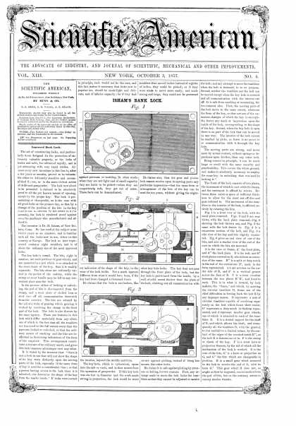 Scientific American - Oct 3, 1857 (vol. 13, #4)